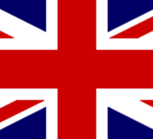 Union Jack, British Flag, UK, United Kingdom, Pure & simple 1:2 Sticker