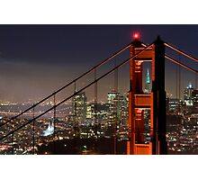 Golden Gate Bridge and San Francisco Photographic Print