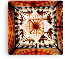 Looking up: Inside the Tower of Lincoln Cathedral Canvas Print