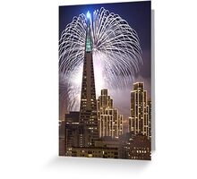 Fireworks over the Transamerica Building, San Francisco Greeting Card