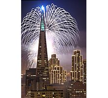 Fireworks over the Transamerica Building, San Francisco Photographic Print