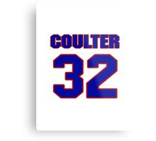 National Hockey player Neal Coulter jersey 32 Metal Print