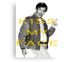 KISS MY FACE Canvas Print
