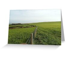 south east downs Greeting Card
