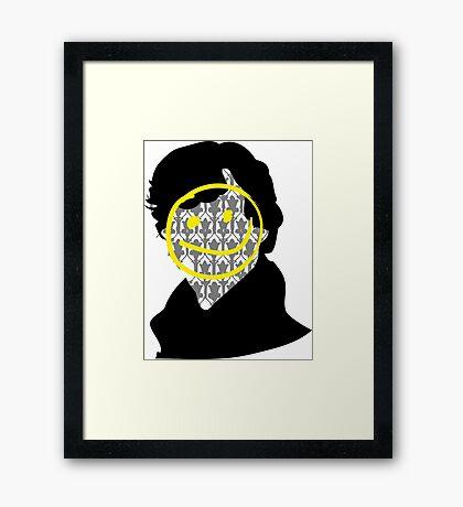 Sherlock Smiley Face Framed Print