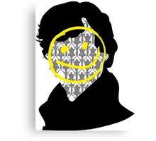 Sherlock Smiley Face Canvas Print