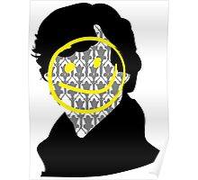 Sherlock Smiley Face Poster