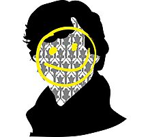 Sherlock Smiley Face Photographic Print