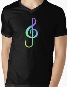 Music Hooks Colorful Mens V-Neck T-Shirt
