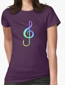 Music Hooks Colorful Womens Fitted T-Shirt