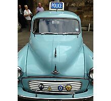 Old Police Car Photographic Print