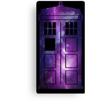 TARDIS Galaxy Canvas Print