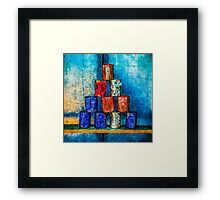 Soup Cans - Square Meal Framed Print