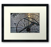 Wagon Wheels II Framed Print