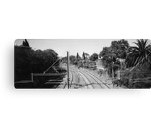 The Rail Always Turns Canvas Print