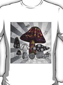 Technicolor Mushroom Rays  T-Shirt