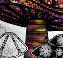 Technicolor Mushroom Rays  Sticker