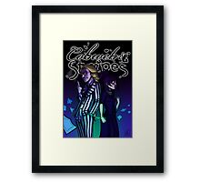 Cobweb and Stripes - bounded Framed Print