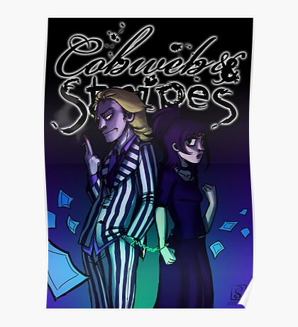 Cobweb and Stripes - bounded Poster