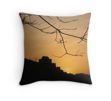 sunrise on the great wall of China  Throw Pillow