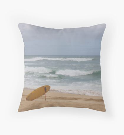 Lonely Surf Throw Pillow