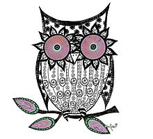 Flowery Eyed Owl  Photographic Print