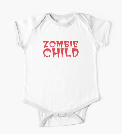 Zombie child in cool dripping font One Piece - Short Sleeve