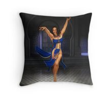 The Blue Crane Throw Pillow