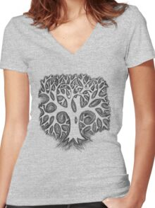 The Tree Tee Women's Fitted V-Neck T-Shirt