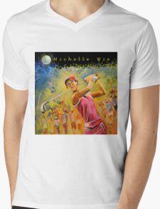 Michelle Wie Designs Mens V-Neck T-Shirt