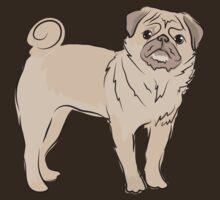 cute pug dog by jazzydevil