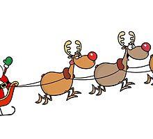 Santa and his sleigh by LennardH