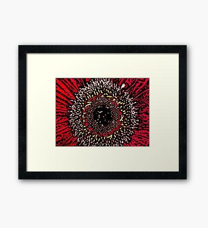 Blink - Woodcut Framed Print