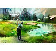 Golf In Crans-Sur-Sierre 01 Photographic Print