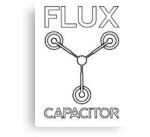 Flux Capacitor - Black Canvas Print