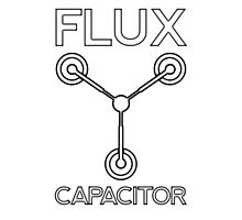 Flux Capacitor - Black Photographic Print