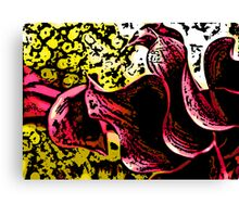 Chatter - Woodcut Canvas Print