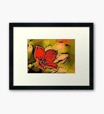 Dreamy - Woodcut Framed Print