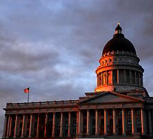 Utah State Capitol Building Sunset by Ryan Houston