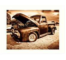 Ford F100 Pick Up Art Print