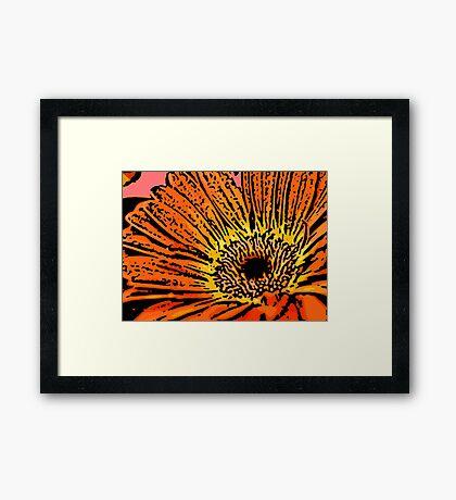 Flirt - Woodcut Framed Print