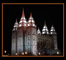 Salt Lake Temple at Night by Ryan Houston