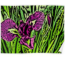 Garden Dragon - Woodcut Poster