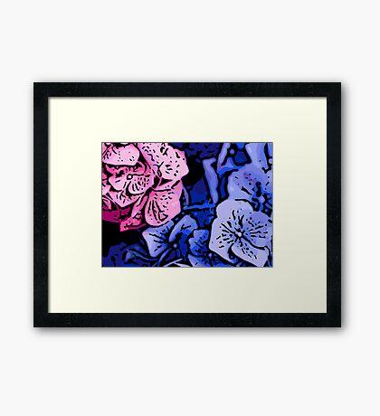 Kids - Woodcut Framed Print