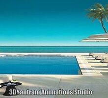 Swimming Pool Exterior Modeling by 3dwalkthrough