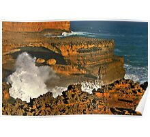 Rough Coastline 12 Apostles Poster