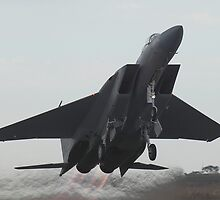 US Airforce F15 Eagle full afterburner takeoff Avalon 2007 by Norman Long