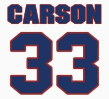 National Hockey player Jimmy Carson jersey 33 by imsport
