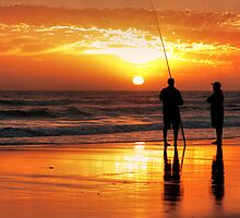Two Mates Fishing by John Conway