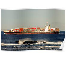 Coming through Port Phillip Bay Heads Poster